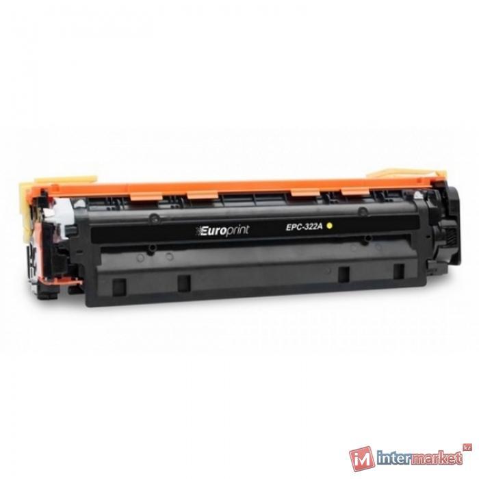 Картридж, Europrint, EPC-322A (CE322A), Жёлтый, Для принтеров HP Color LaserJet Pro CP1525/CM1415, 1300 страниц.