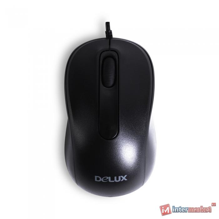 Мышь Delux DLM-109OUB, (Чёрный)
