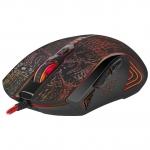 Мышь проводная игровая оптическая Defender OverLord GM-890 черная, 3200dpi, НОВИНКА!